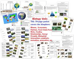 biology unit on the biosphere biomes ecosystems habitats