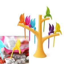 cuisiner le fruit de l arbre à 1 set cuisine gadget oiseau arbre birdie fourchette de fruit 1 stand