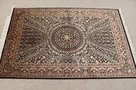 black gonbad qom persian rugs gombad silk qum carpets 3216