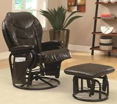 Gliders And Rocking Chairs Recliners Compact Glider Recliner Ottoman Photos Black Swivel