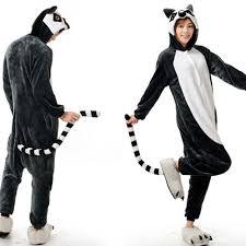 aliexpress com buy anime pajamas lemur long tail monkey cosplay