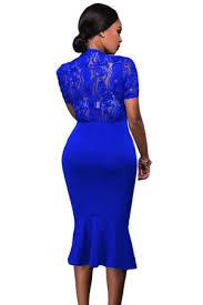 royal blue lace top bodycon dress u2014 fashion affair boutique