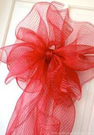 large ribbon a large bow with deco mesh wreaths deco mesh bows and bow