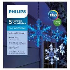 outdoor hanging snowflake lights philips 5 ct hanging snowflake icicles lights white blue