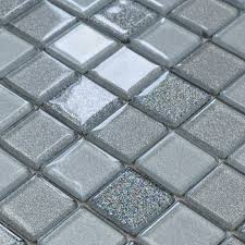 gray crystal glass mosaic tiles design kitchen bathroom backsplash