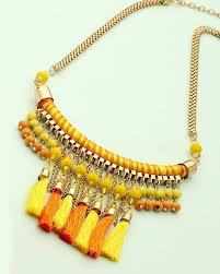 orange beaded necklace images Buy designer necklaces beaded necklace in yellow orange jpg