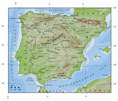 Blank Map Of Spain by Spain Physical Map Imsa Kolese