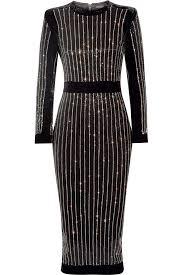 embellished dress sleeve embellished midi dress black bandage dresses and