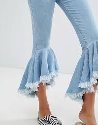 Extreme Flare Jeans Bershka Bershka Cropped Kick Extreme Flare Jean