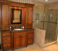 small bathroom corner shower ideas brown color clear glass wash