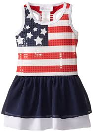 Bonnie Flag Amazon Com Bonnie Jean Little Girls U0027 Spangle American Flag Dress