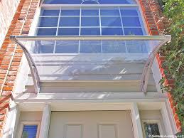 Polycarbonate Porch by Pc1500 Series Door Canopy With Rain Channel Clear Sheet Gray