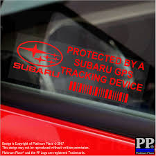 subaru window decals subaru gps tracking device security window stickers 87x30mm