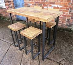 restaurant high top tables reclaimed industrial 4 seater chic tall poseur table bar cafe
