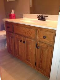 best paint for oak bathroom cabinets my bathroom with 80 s honey oak cabinets before update with
