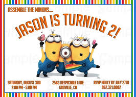 despicable me birthday invitations templates