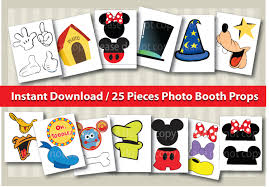 mickey mouse photo booth instant dl 25 pieces mickey mouse photo booth props