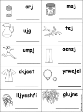 unscramble words at enchantedlearning