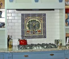 colorful kitchen backsplashes kitchen backsplash tile colorful trees peacocks birds and flowers
