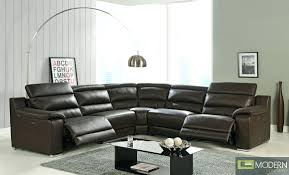 Reclining Sofa With Chaise Lounge by Modern Fabric Sectionals Mccaskill Gray Reclining Sectional Set
