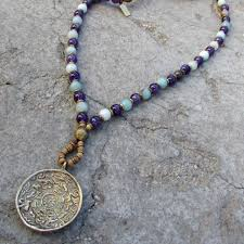 amethyst jewelry necklace images Communication and healing amethyst and amazonite beaded necklace jpg