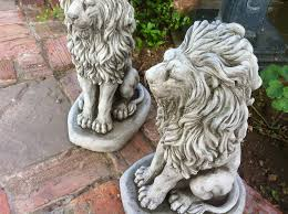 concrete fountains for sale uk painted concrete lions for garden