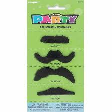 mustache party mustache party favors 4 count walmart