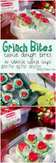 grinch cookie dough bites in crinkle cookie cups recipe grinch
