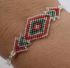 bead weave bracelet images Brick stitch diamond bracelet instant download pattern off the jpg