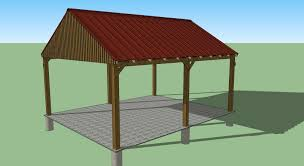 Two Car Carport Plans 16x20 Carport Design Shed Plans Stout Shedsllc Youtube