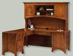 Left Corner Desk Amish Corner Desk Hutch Amish Decor