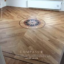 no 148 the compass iii hardwood floor medallions installed the