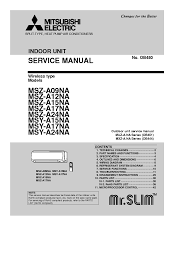 mitsubishi msz a09 24na service manual download schematics