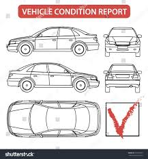 car damage report template car condition form vehicle checklist auto stock vector 330198623