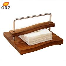 table paper holder wholesale napkin paper holder wood craft square table tissue box