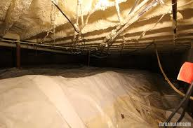 filling in a basement crawl space
