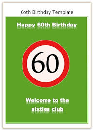 funny 60th birthday greeting card for free