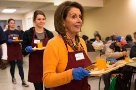 pelosi serves thanksgiving meals in sf by p fitzgerald