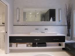 open shelf bathroom vanity bathroom modern with accent wall accent