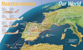 Easyjet Route Map by Airline Memorabilia Air Nostrum 1995 U003e 2009