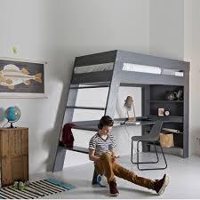 lit sureleve avec bureau lit mezzanine julien avec bureau en pin massif brossé gris lit