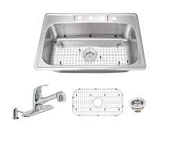 33 x 22 drop in kitchen sink soleil 20 gauge stainless steel 33 x 22 drop in kitchen sink with