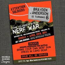 nerf birthday party invitations marialonghi com
