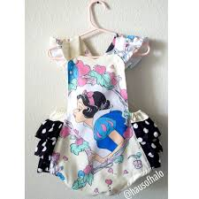 Vintage Style Baby Clothes Snow White Vintage Inspired Little U0027s Baby Romper
