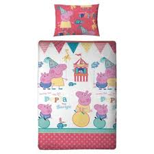 Peppa Pig Single Duvet Set Buy Peppa Pig Fun Fair Duvet Set Single From Our Children U0027s Duvet