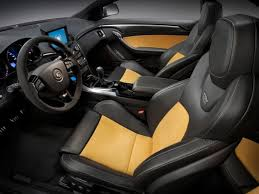 price of 2013 cadillac cts cts v coupe black and yellow interior with leather and suede my