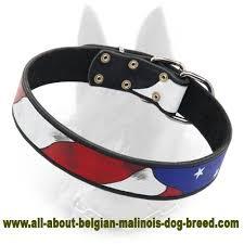 Comfortable Dog Collar Amazing Patriotic American Flag Dog Collar For Belgian Malinois