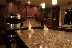 Wall Oven Under Cooktop Cabinets U0026 Storages Cool Dark Cherry Kitchen Cabinet With Glass
