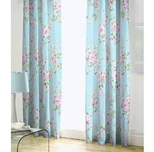 Pink Pleated Curtains Amazon Com Blue Pink Rose Floral Pencil Pleat Lined Cotton