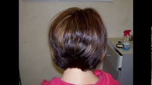 back pictures of bob haircuts short stacked bob haircuts back view youtube